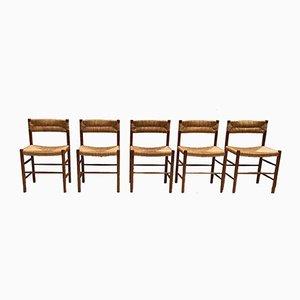 Dordogne Beistellstühle von Charlotte Perriand für Robert Sentou, 1968, 5er Set