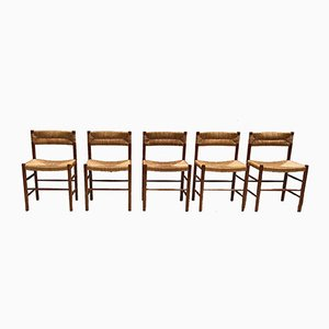 Dordogne Side Chairs by Charlotte Perriand for Robert Sentou, 1968, Set of 5