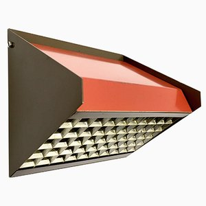 Orange Sloping Wall Lamp from Raak, 1970s