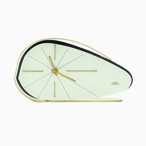 Brussel Era White Clock from Prim, 1950s