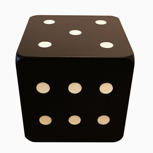 Black Lacquered Dice Shaped Coffee Table, 1970s