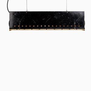 Lámpara colgante de teatro de la RDA vintage bañada en acero