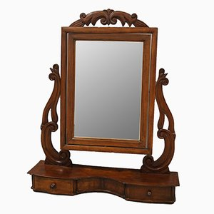 19th-Century Louis Philippe Walnut Mirror, Italy