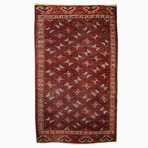 Antiker Handgefertigter Turkmenischer Yomud Teppich, 1880er
