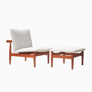 Model 137 Japan Chair & Ottoman by Finn Juhl for France & Son, 1950s