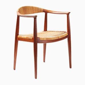 Modell JH-501 The Chair Schreibtischstuhl von Hans J. Wegner für Johannes Hansen, 1949