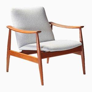 Modell 138 Armlehnstuhl von Finn Juhl für France & Son, 1950er