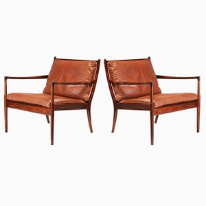 Rosewood Samso Lounge Chairs by Ib Kofod-Larsen for OPE, 1960s, Set of 2