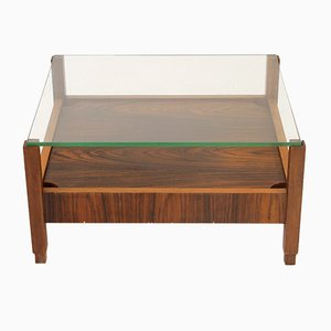 Italian Coffee Table with Glass Top, 1960s