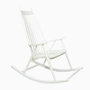 Rocking Chair Blanche, République Tchèque, 1960s