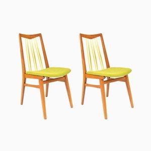 Grüne Vintage Stühle, 2er Set