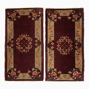 Chinese Art Deco Handmade Rugs, 1920s, Set of 2