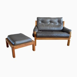 S22 Sofa & Ottoman by Pierre Chapo, 1970s