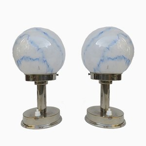 Small Vintage Art Deco Table Lamps from FM, Set of 2