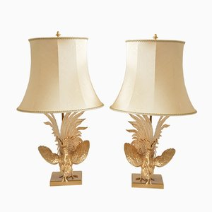 Vintage Gaulois Coqs Table Lamps, Set of 2