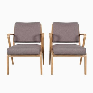 Armchairs by Selman Selmanagić for VEB Deutsche Werkstätten Hellerau, 1957, Set of 2