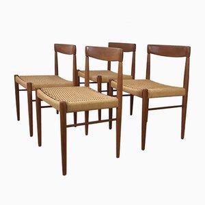 Sedie di H.W. Klein per Bramin, Danimarca, anni '60, set di 4