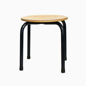 Vintage Industrial School Stool, 1970s