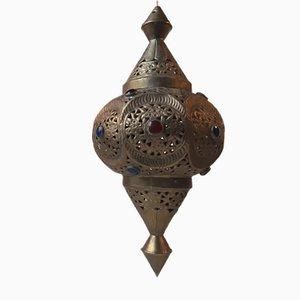 Lampe à Suspension Shehrazad Mid-Century en Laiton, Maroc