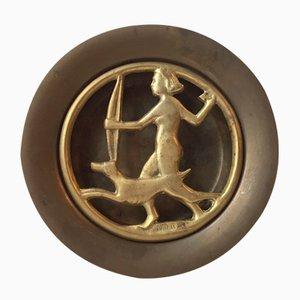 Encensoir Art Déco en Bronze par N. Dam Ravn pour Nordisk Malm, Danemark, 1930s