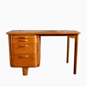 Scandinavian Oak Desk from Atvidabergs, 1950s