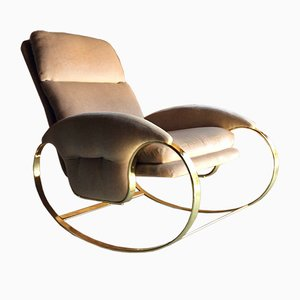 Mid-Century Italian Rocking Chair by Guido Faleschini, 1970s