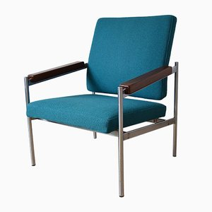 Danish Chrome & Teak Lounge Chair by Kay Bæch Hansen for Fritz Hansen. 1976