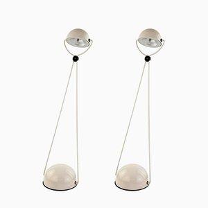 Lámparas de mesa de metal de Stefano Cevoli para Vermezzo, 1980. Juego de 2