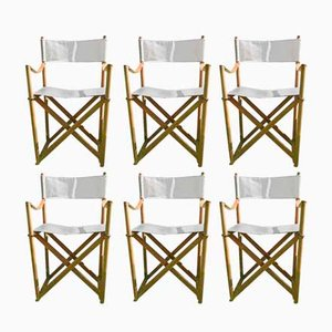 Danish Safari Folding Chairs by Mogens Koch for Interna, 1960s, Set of 6