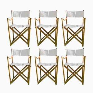 Danish Safari Folding Chairs by Mogens Koch for Interna, 1960s, Set of 6