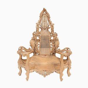 Sedia Mid-Century a trono, Francia