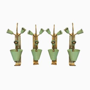 Italian Sconces, 1950s, Set of 4
