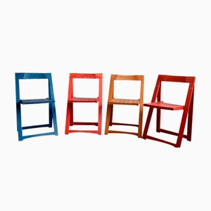 Folding Chairs by Aldo Jacober for Alberto Bazzani, 1966, Set of 4