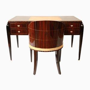 Art Déco Desk & Chair Ensemble, 1920s, Set of 2