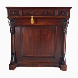 Antique Victorian Mahogany Davenport Desk, 1850s
