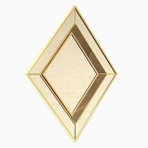 Espejo vintage de metal dorado de Maison Jansen