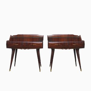 Vintage Italian Nightstands, Set of 2