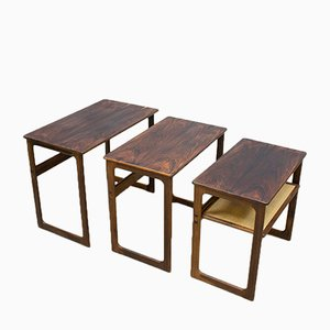 Vintage Nesting Tables by Johannes Andersen & Illum Wikkelso for CFC Silkeborg