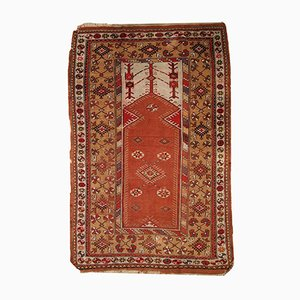 Vintage Turkish Melas Prayer Rug, 1920s
