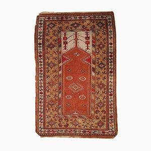 Vintage Turkish Melas Prayer Rug, 1920s