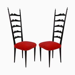 Sedie con schienale alto di Paolo Buffa, anni '40, set di 2