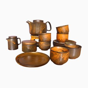 Brutalist Coffee Set from Heisterholz Keramik, 1970s