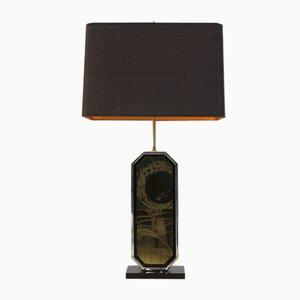 Geätzte Messing Tischlampe von George Mathias, 1970er