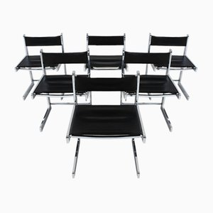Mid-Century Modern Chrome Dining Chairs, Set of 6
