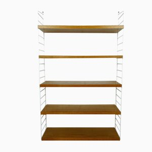 Teak Wall Shelving System by Nisse Strinning for String, 1960s