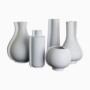 Vases Surrea Vintage en Grès par Wilhelm Kåge pour Gustavsberg, Suède, Set de 5