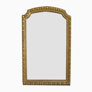 Großer Antiker Vergoldeter Französischer Spiegel