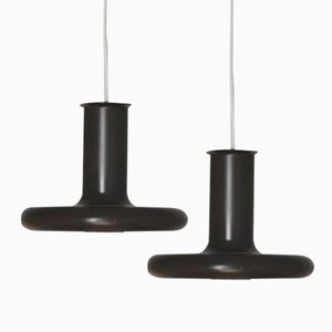 Danish Modernist Pendant Lamps Optima by Hans Due for Fog & Mørup, Set of 2