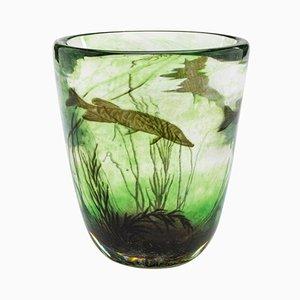 Vase Fishgraal Vintage par Edward Hald pour Orrefors, 1937