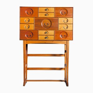 Vintage Cabinet with 13 Drawers by Josef Frank